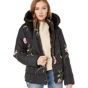 Show Me Your Mumu Alpine Faux Fur Floral Jacket M